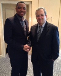 With Ehud Barak